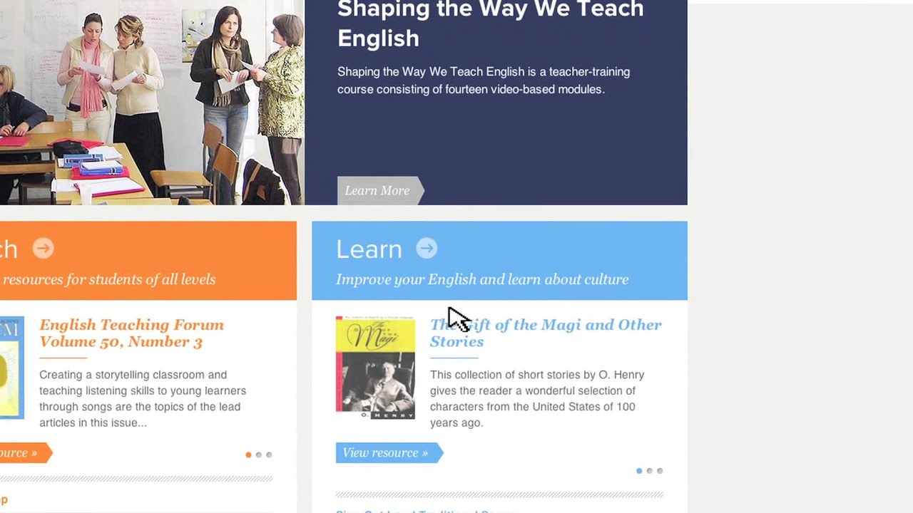 The New American English Website - YouTube