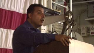 Shuttle Astronaut Jose Hernandez Speaks at USS Hornet pt5