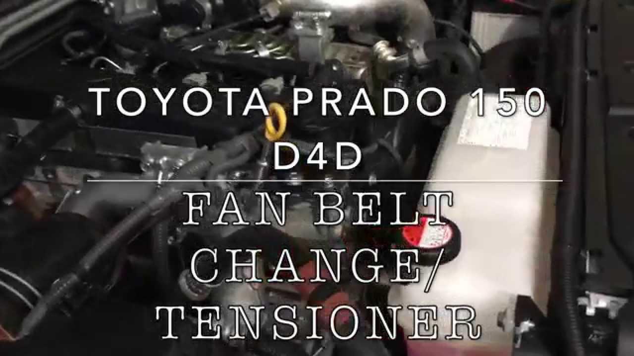 Fan Belt Change Toyota Prado D4D  YouTube