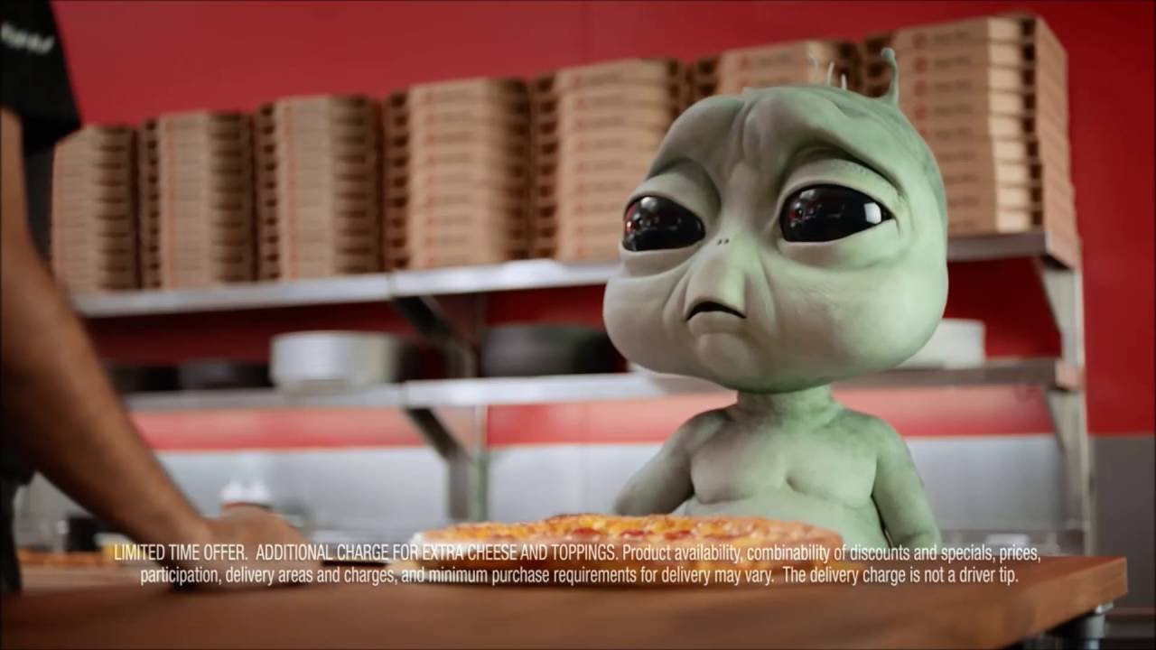 Pizza Hut commercials: homesick alien and a severely ...