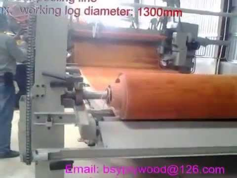 Bsy Company Wood Surface Veneer Peeling Line Plywood