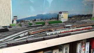 Nゲージ 阪急6300と阪神3301の交互走行