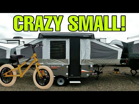 CRAZY TINY Popup Travel Trailer RV! Gotta See To Believe! Flagstaff MAC 176LTD