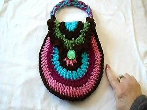 Crochet A Rainbow Purse Or Handbag Make A Cute Easter Gift Youtube