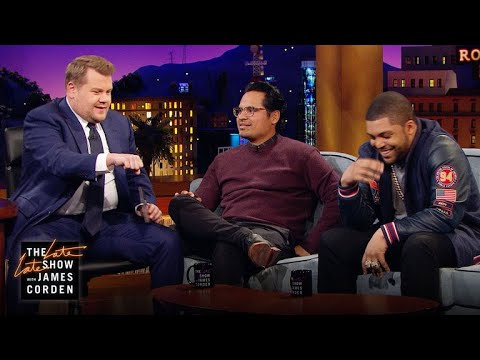 O'Shea Jackson Jr., Michael Peña & James Corden Can't Ride Horses