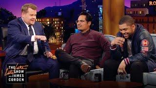 O'Shea Jackson Jr., Michael Peña & James Corden Can't Ride Horses