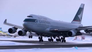 """""""ふわぁ~"""" Cathay Pacific Airways(CPA) Boeing747-400 B-HKU"""