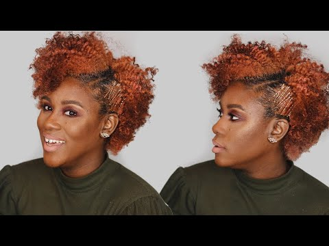 How To Quick Easy Bobby Pin Hairstyle For Short Natural Hair