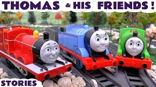 Thomas & Friends toy story Episodes with Peppa Pig toys Play doh surprise eggs and Tayo prank