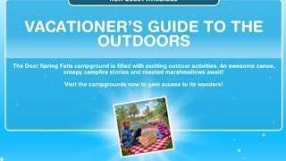 Sims Freeplay | Vacationers Guide To The Outdoors Quest