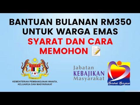 Bantuan Warga Emas Bantuan Orang Tua Malaysia 2020