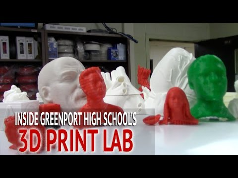 Greenport High School gets high-tech 3D-print lab thanks to teacher's efforts