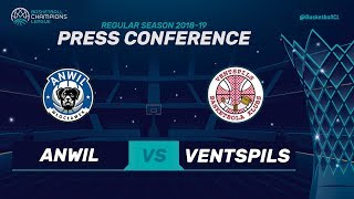 Anwil v Ventspils - Press Conference - Basketball Champions League