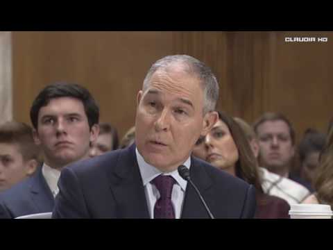 Scott Pruitt Confirmation Hearing EPA Nominee Donald Trump 1/18/17
