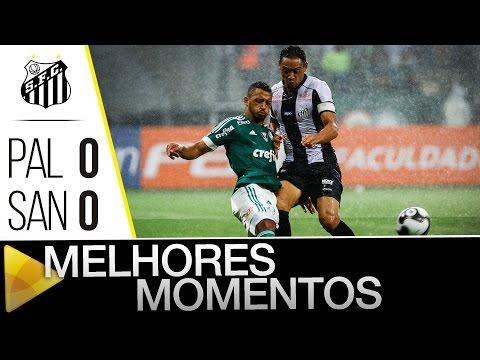 Palmeiras 0 x 0 Santos | MELHORES MOMENTOS | Paulistão (20/02/16)