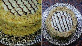 торт наполеон из слоеного теста.