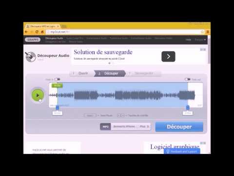 Comment faire un découpage audio sur un site .