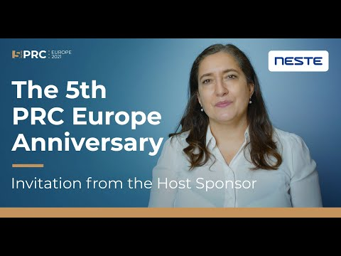 Invitation from the Host Sponsor, Neste Corporation   PRC Europe's 5th Anniversary.