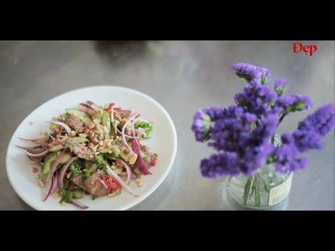 Gỏi thịt bò chua ngọt kiểu Thái công thức này rất ngon!