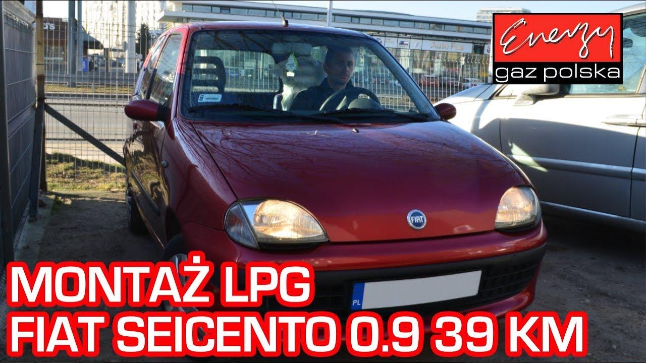 Montaż LPG Fiat Seicento 0.9 39KM 2000r w Energy Gaz Polska na auto gaz Lovato