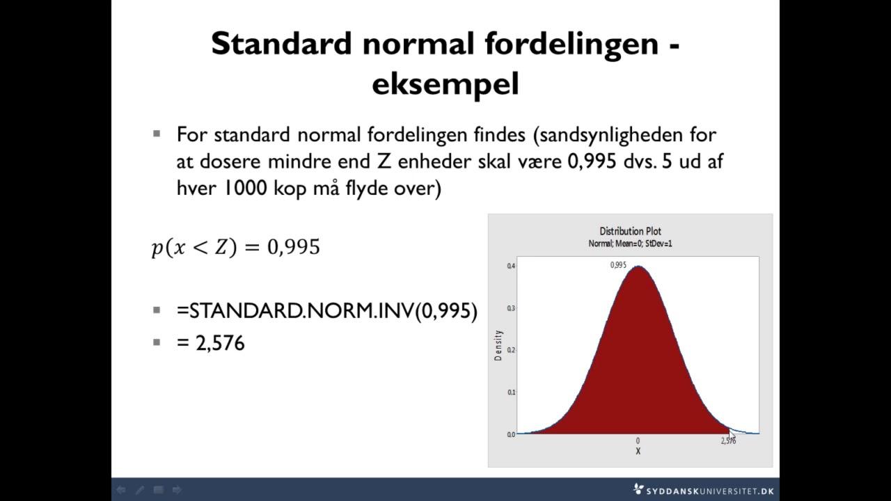 Lektion 4-1 Standard Normal Fordelingen