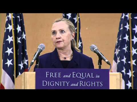 Secretary of State Hillary Clinton's Historic LGBT Speech -