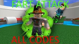 ROBLOX - FART ATTACK ALL CODES