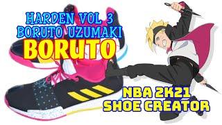 NBA Shoe Creator HARDEN VOL 3 BORUTO UZUMAKI BORUTO ADIDAS / NBA 2K21