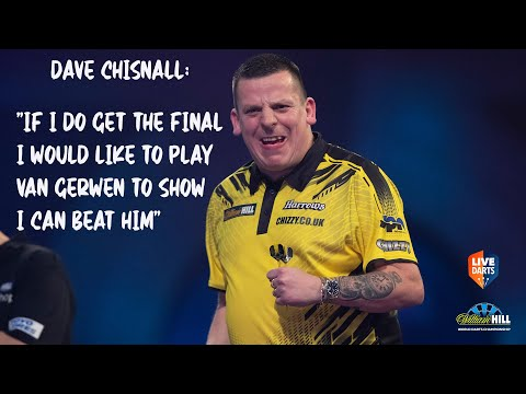 """Dave Chisnall: """"If I do get the final I would like to play Van Gerwen to show I can beat him"""""""