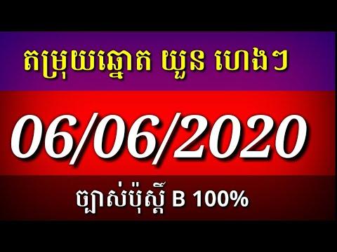 ឆុតណាស់ តម្រុយឆ្នោតយួន ប៉ុស្តិ៍ A,B,C,D សម្រាប់ថ្ងៃទី 06/06/2020 Vietnamese Lottery