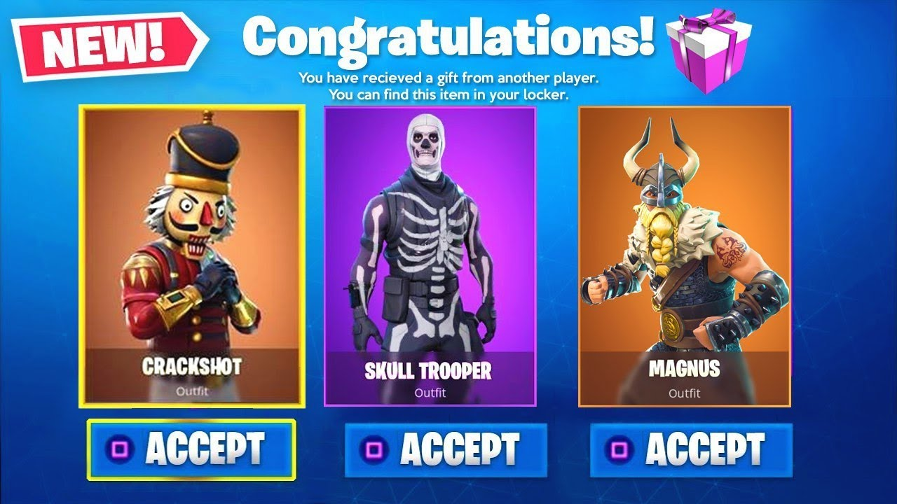 New Fortnite Gifting System Free Gifts Release Leaks Youtube