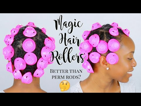 I Tried Magic Hair Rollers On My Type 4 Natural Hair... Whew! I Was NOT Ready For These Results!! 😳
