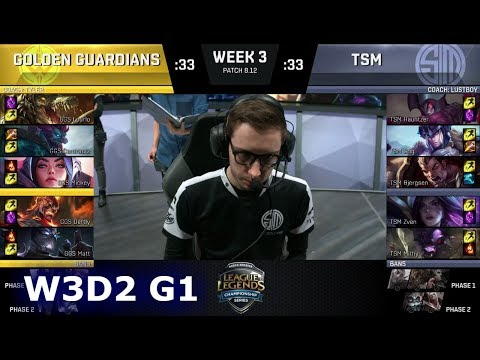 Golden Guardians vs TSM | Week 3 Day 2 S8 NA LCS Summer 2018 | GGS vs TSM W3D2