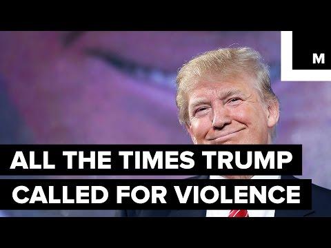 Shocking Supercut Shows Trump Encouraging Violence Again And Again And Again