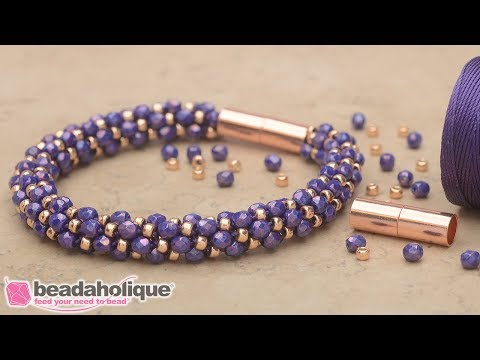 How to Make the Deluxe Spiral Beaded Kumihimo Bracelet Kits by Beadaholique