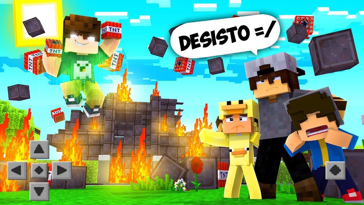 Minecraft: INSCRITOS #33 - O INSCRITO HACK DESTRUIU A CASA DE NETHERITE !!