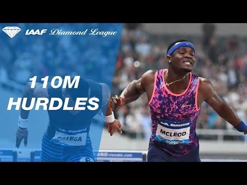 Omar McLeod takes the 110m Hurdles - IAAF Diamond League Shanghai 2017
