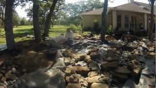 How To Build A 5000+ Gallon Koi Pond , River & Bog In 10 Days