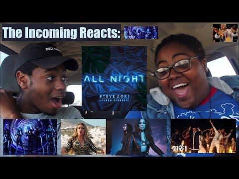 ALL NIGHT, BOOM BOOM MUSIC VIDEO & POR FAVOR LIVE!   REACTION!