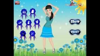 Blue Girl Dress Up - Y8.com Online Games by malditha