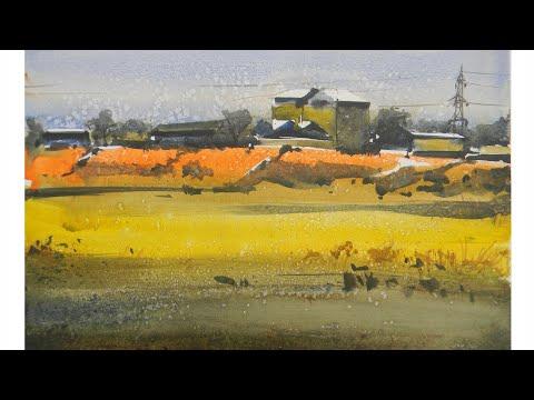 Landscape watercolor watercolor outdoor watercolor tutorial