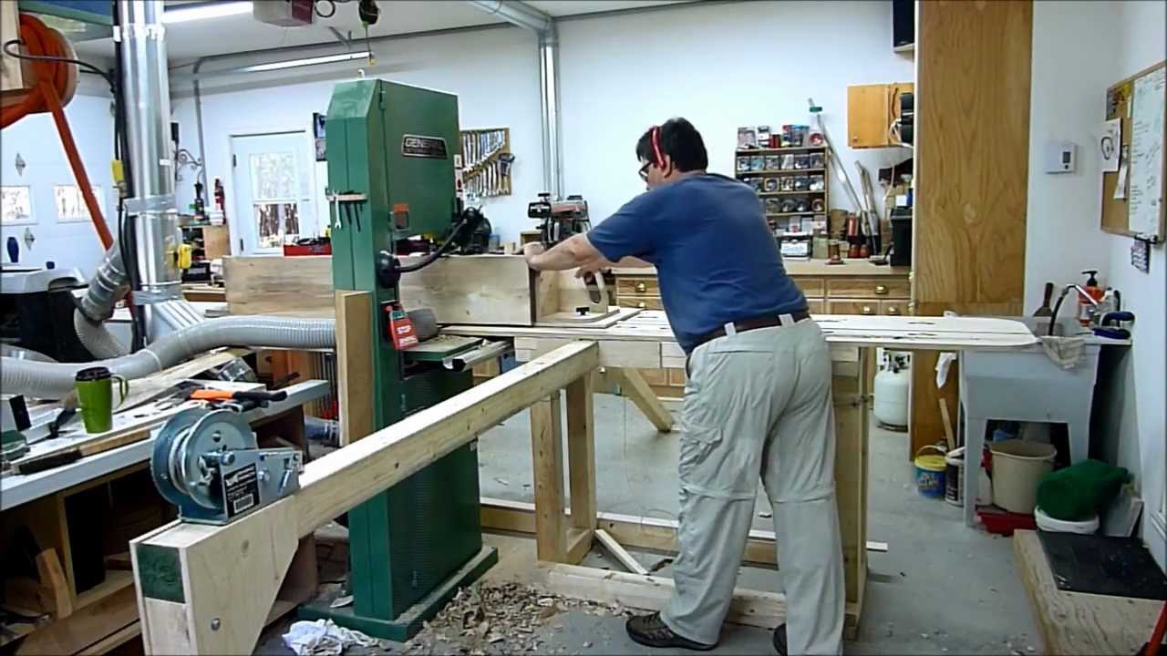 How To Mill Large Logs On Your Shop Bandsaw Youtube