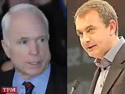 McCain Answers Question on Spain, Zapatero