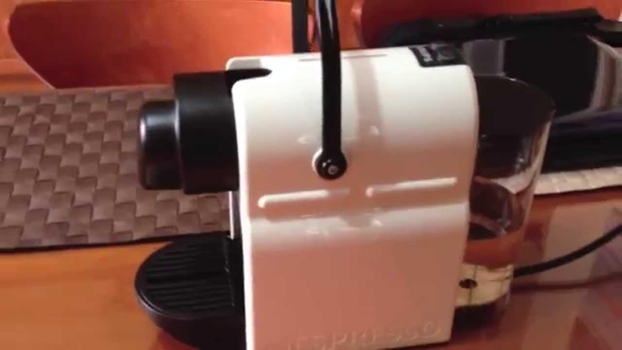 nespresso inissia machine youtube. Black Bedroom Furniture Sets. Home Design Ideas