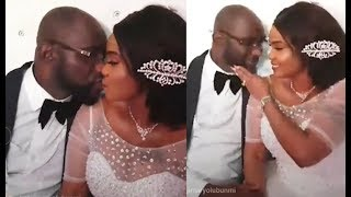Watch Iyabo Ojo Kissing Her Husband On Their Wedding Day In Secret Battle