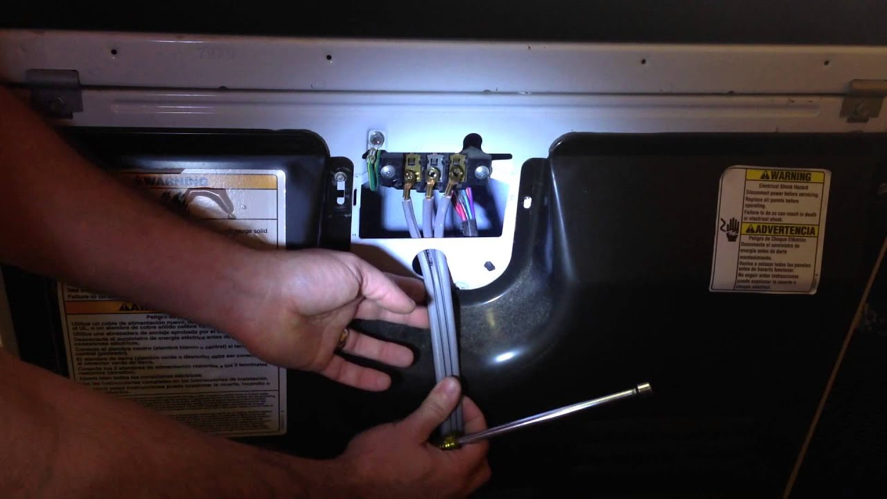 How To Install A 3 Prong 4 Prong Dryer Stove Cord