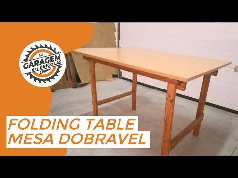 DIY# Folding table - Mesa dobrável