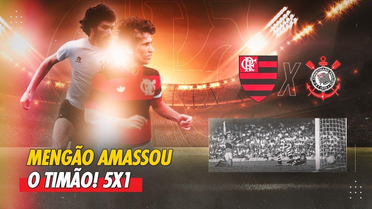 Zico deu show na goleada do Mengão! Sócrates fez o gol de honra! (Flamengo 5 x 1 Corinthians 1983)