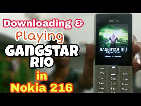 Downloading & playing Gangstar Rio in Nokia 216 in |Hindi|