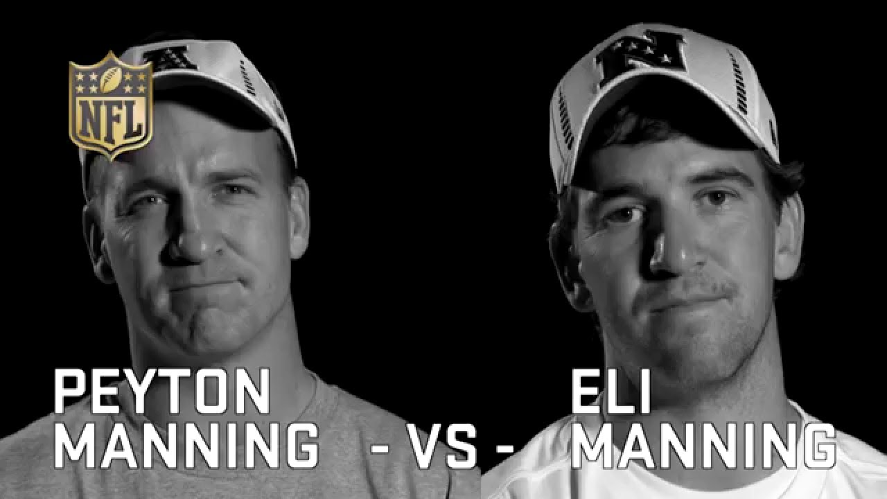 peyton vs eli Peyton manning, of course, is the closest thing to an exception as compared with the record projected by elo, his postseason record ranks 161st out of the 180 qbs in our sample.